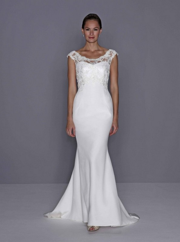 wedding dresses for second time older brides photo - 1