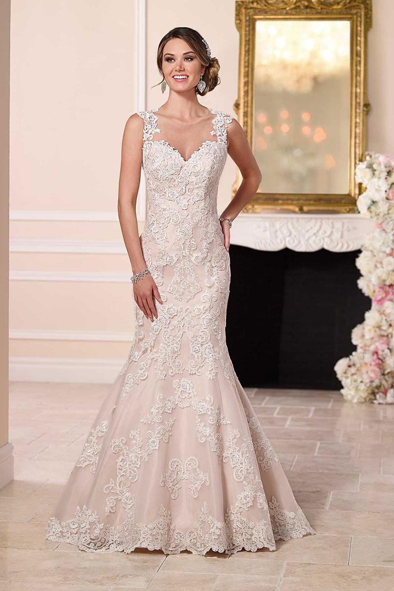 wedding dresses mermaid style lace photo - 1