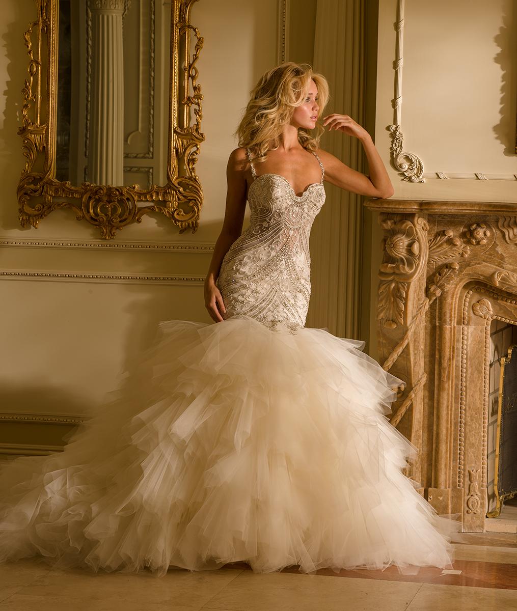 wedding dresses mermaid trumpet style photo - 1