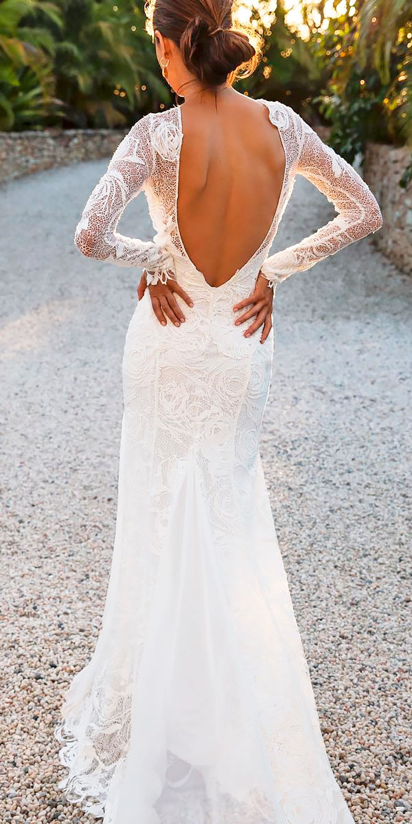 wedding dresses mermaid with sleeves photo - 1