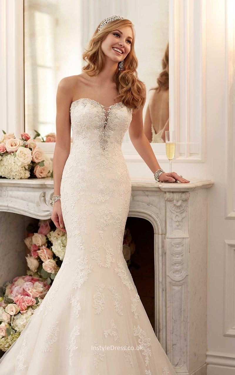 wedding dresses strapless sweetheart neckline photo - 1