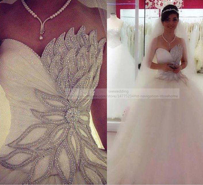 wedding dresses with a lot of bling photo - 1