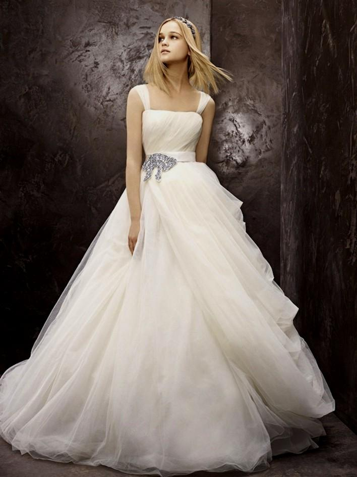 wedding dresses with black detail photo - 1