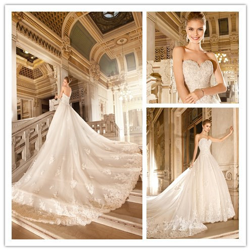 wedding dresses with cathedral length trains photo - 1