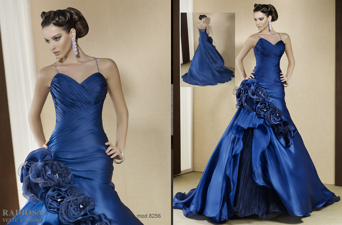 wedding dresses with colored sashes photo - 1