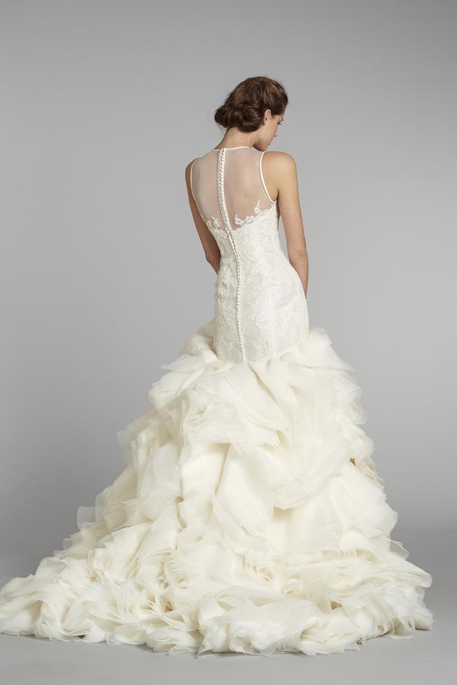 wedding dresses with illusion back photo - 1