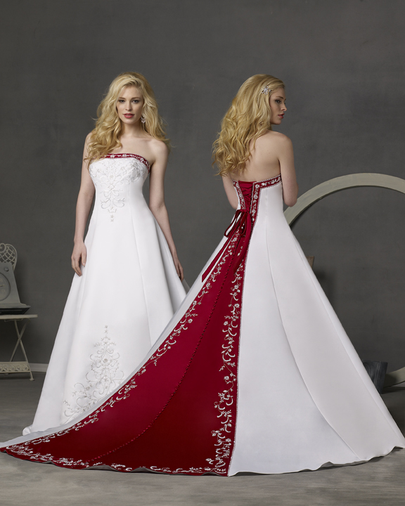 wedding dresses with red photo - 1