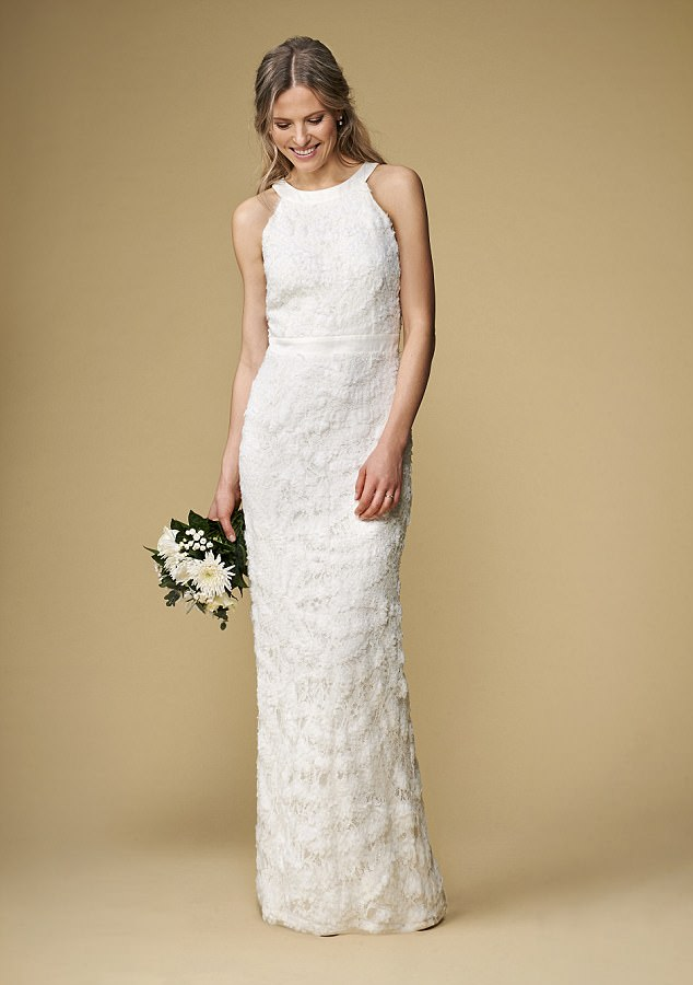 wedding dresses with sleeves for older brides photo - 1