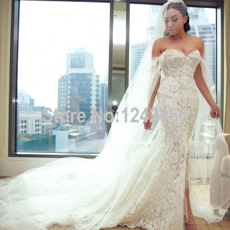 wedding dresses with slits in the front photo - 1