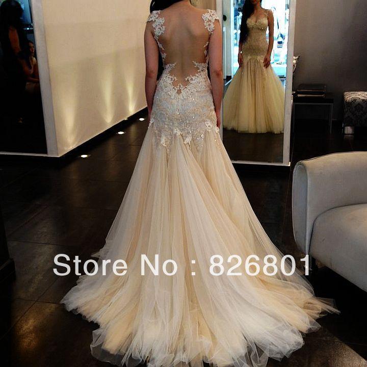 wedding dresses with unique backs photo - 1