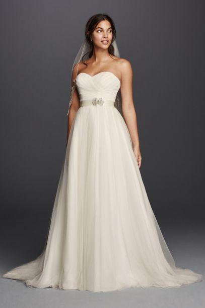 white simple wedding dresses photo - 1