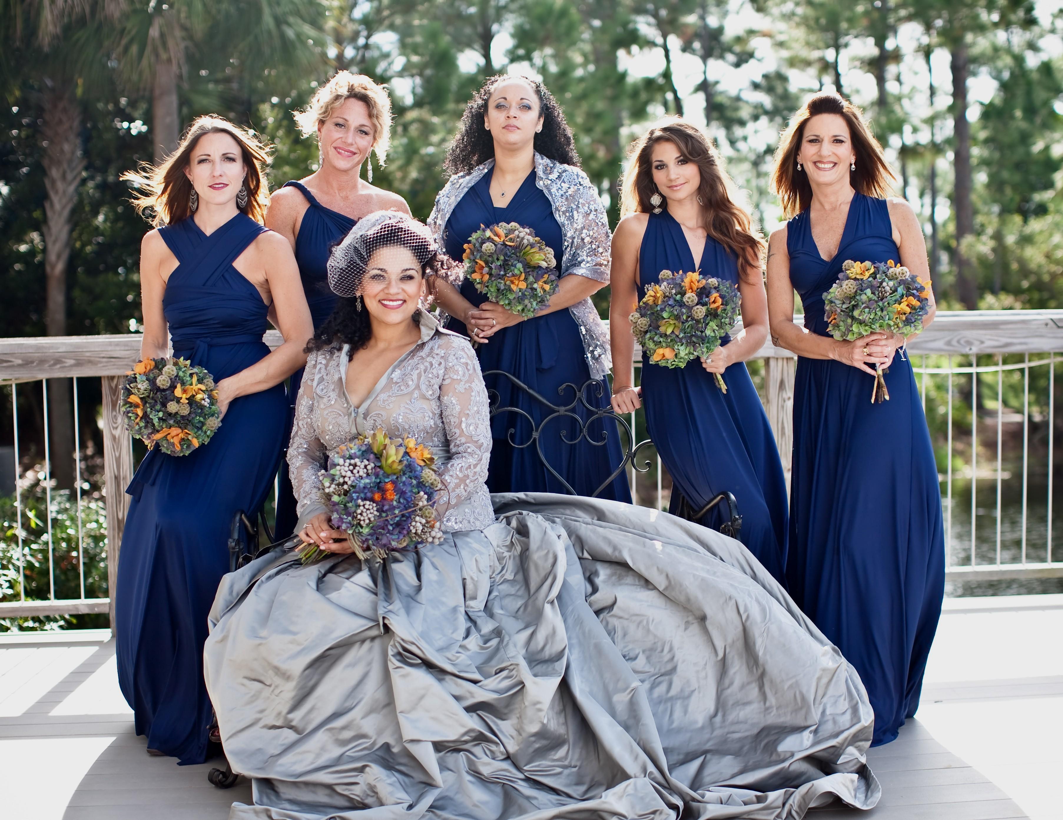 winter wedding bridesmaid dresses photo - 1