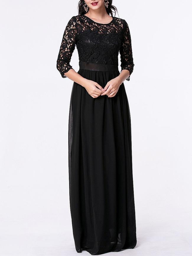 womens black evening dresses photo - 1